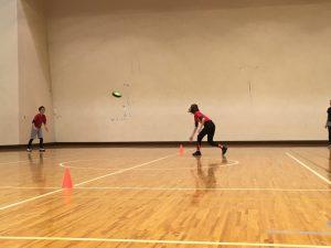また、ドッヂビーという競技も取り入れました。これはドッヂビーと呼ばれるフリスビーのようなものを使った、ドッヂボールに似たゲームです。